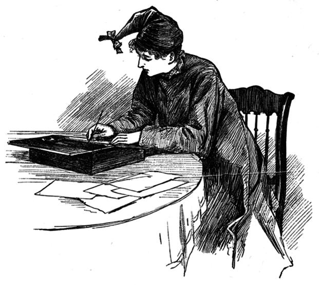"""Literary Lessons,"" illustration from Louisa May Alcott's Little Women, by Frank T. Merrill, 1880."