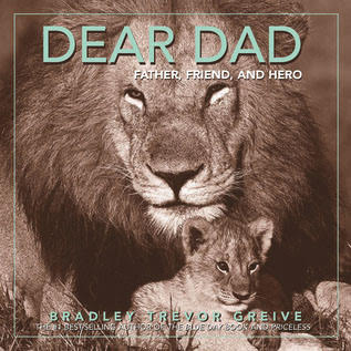 Dear Dad book cover with lion and lion cub